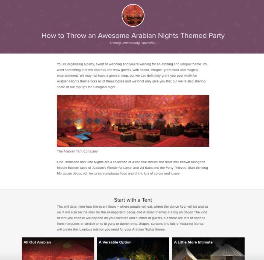 event-website-copywriting